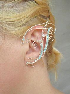 Pair of elf ear cuffs Waterfall