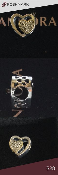 Pandora heart charm Brand new Pandora heart charm Pandora Jewelry Bracelets