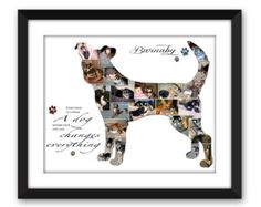 Jack Russell Terrier JRT Dog Puppy Service Dog Canine Pet Pet Memorial Pet Loss Custom Silhouette Photo Collage Wall Art Digital Printable