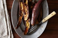 Barbara Kafka's Marinated Eggplant (in the Microwave, Shhhh) -- could this be the recipe that makes eggplant edible without frying the hell out of it?