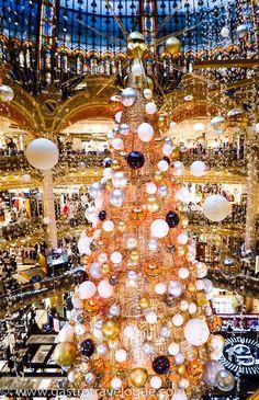 Galleries Lafayette Paris at Christmas