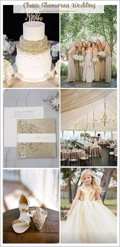 EWI - 8 Popular Wedding Themes To Inspire You In 2018 & 2019 --> gorgeous elegant classic champagne gold wedding colors Champagne Wedding Themes, Gold Wedding Theme, Glitter Wedding, Wedding Decor, Wedding Ideas, Camp Wedding, Wedding Summer, Trendy Wedding, Wedding Flowers