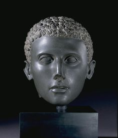 Head of a Statue of a Youth  100-75 BC  Graeco-Roman  (Source: The British Museum)