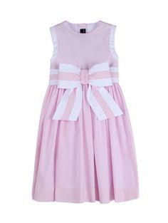 BOW FRONT PARTY DRESS - Designer Girl's Clothing - Designer Clothing for Girls by Oscar de la Renta - Oscar de la Renta