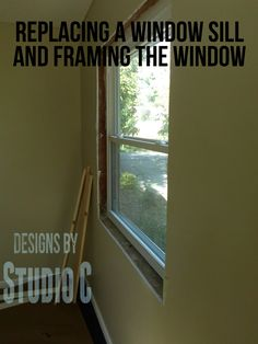If you've recently had new windows installed, they may need a new sill and new framing. Check out my tutorial on how to make a window sill! http://designsbystudioc.com/how-to-make-window-sill/ #howtomakeawindowsill #diy