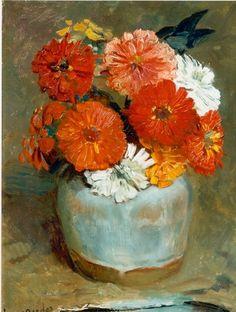Frans David Oerder (Dutch, 1867-1944)  Floral Still Life, Oil on Canvas