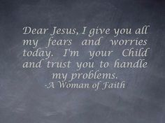 I trust You LORD!!