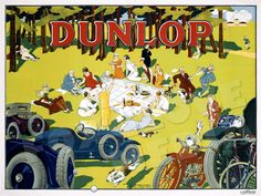Dunlop Tires French Advertising Poster Print Vintage