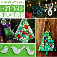 """Homemade ornaments are the best. They fill your tree with memories that you can unwrap and decorate your tree with each year. We have a family ornament-making day each Christmas as part of our """"Countdown to Christmas"""" activities. Memories! Here are some of the best DIY ornament ideas we've found. Easy Ornaments Adorable! Capture your …"""