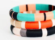 Colorblock Thread Bangle Bracelets