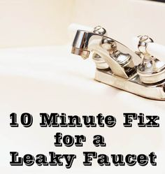 fix a leaky faucet in 10 minutes, bathroom ideas, home maintenance repairs, how to, plumbing