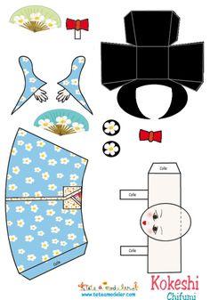 coloriage Kokeshi Chifumi