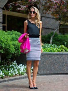 Blazer shock. fashion blog for professional women new york city street style work wear