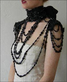 Modern Mourning Shoulder & Neck Piece by Mascherina [ad#post ad image]