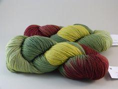 """Handgesponnen & -gefärbt - Handgefärbte Wolle Hightwist """"Waldboden"""" - ein Designerstück von MeRo-Colors bei DaWanda"""