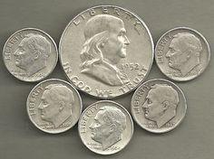 MAKE OFFER $3.00 Face Value 90/% Silver Roosevelt Dimes Junk Coins US Bullion