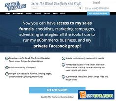 Ezra Firestone - Smart Marketer Community Now you can have access to my sales funnels, checklists, marketing campaigns, advertising strategies, all the tools I use to run my eCommerce business, and my private Facebook group! Direct Access To Ezra & The Smart Marketer Team in our Private Facebook Group A full community of support!