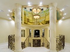 Classic-Wall-Murals-Design-in-Staircase.jpg (700×521)