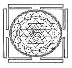 Mandala Sri Yantra para colorir