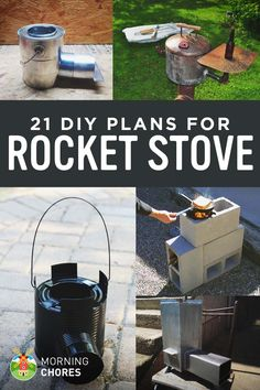 21 Free DIY Rocket Stove Plans for Cooking Efficiently with Wood