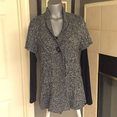 Beautiful Ladies Vest ColdWater Creek This black and white short sleeve sweater vest looks stunning with any outfit black tops underneath not included. In new condition! From a non-smoking home. Christopher & Banks Sweaters Cardigans