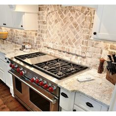 Brick backsplash.  Marietta Home