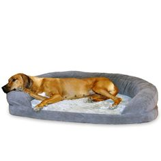 K & H Pet Products GRAY Orthopedic Bolster Sleeper Dog Bed----**ALL SIZES**[Large]