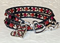 Hey, I found this really awesome Etsy listing at https://www.etsy.com/listing/220468491/red-ruby-swarovski-crystal-double-wrap