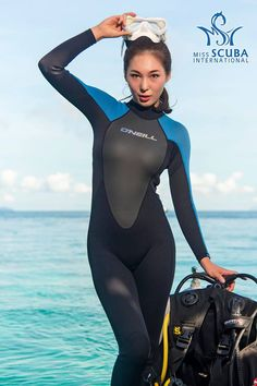 Kim Doyoung - Miss Scuba International 2017 Scuba Wetsuit, Women's Diving, Wonder Woman Cosplay, Girl In Water, Scuba Girl, Full Body Suit, Womens Wetsuit, Tights Outfit, Hot Brunette