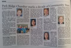 Congratulations to the Park Ridge Chamber's Community Stars and Lifetime Award Recipient!