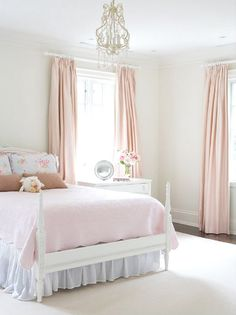simple... the drapes and light fitting would be perfect in my daughter's room.