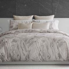 Vera Wang Marbled Bedding Collection Home - Bedding - Bedding Collections - Bloomingdale's Marble Bedding, Marble Duvet Cover, Grey Duvet, Kings Home, Pink Wedding Dresses, French Grey, High Fashion Home, Grey Walls, Bedding Collections