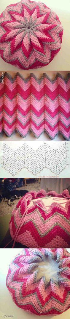 Crochet Daisy Flower Blanket Free Patterns Simple Crochet Pillow Cover Pattern - Home Ideas Crochet Pillow Pattern, Crochet Cushions, Easy Crochet Patterns, Crochet Hooks, Knitting Patterns, Punto Zig Zag Crochet, Crochet Daisy, Crochet Doilies, Free Crochet