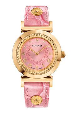 Versace 'Vanity' Leather  strap