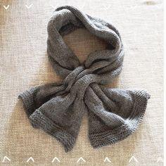 Come fare sciarpa con passante a maglia - Istruzioni in Italiano.