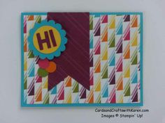 PaperCraft Crew #98, Stampin' Up, Sweet Taffy DSP, Little Letter Thinlits