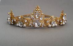 Swarovski Crystals Headbandwedding crown white by ZTetyana on Etsy