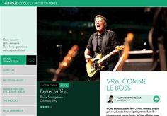 - La Presse+ Bruce Springsteen, Gorillaz, Album, Music, Card Book