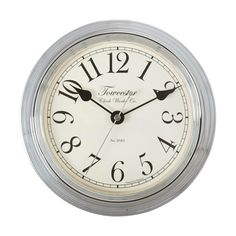 Sherington Wall Clock Chrome 22 cm