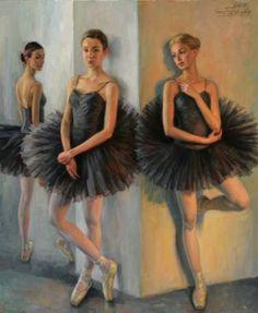 Ballerinas in Black Tutu