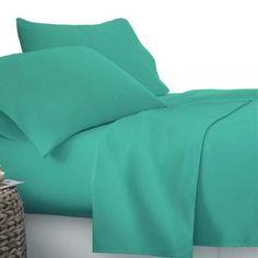 Maddy Aqua 4 - piece Sheet Set - Online Only - Matt Blatt Flat Sheets, Bed Sheets, King Sheet Sets, Queen Size Bedding, Backrest Pillow, Quilt Cover, How To Fall Asleep, Pillow Cases, Kids Room