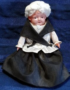 Vintage Celluloid Doll Dressed as Grandma from CurioCabinet on Etsy, $12.00