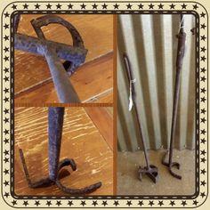 Texas livestock branding irons.