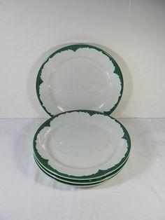 Vintage Restaurant Ware Platter Aqua Turquoise Edge Buffalo China ...