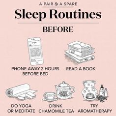 Do You Struggle To Get To Sleep? Sometimes it can be difficult to calm your mind prior to bed. What helps you? 💙 Love These Sleep Routine tips Health And Wellness, Health Tips, Health Fitness, Mental Health, How To Get Sleep, How To Do Yoga, Getting To Sleep, Good Habits, Healthy Habits