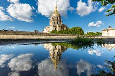 Puddle Mirror On the Invalides in Paris by Loïc Lagarde on 500px