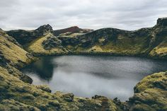a crater in Iceland