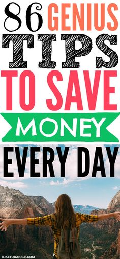86 genius tips to save money every day. Saving money. Budgeting tips. Money saving tips. Finance. Frugal living. #frugal #tipstosavemoney #savemoney