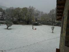 Hace falta poca nieve para sacar un trineo.