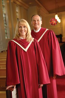 """OUR CLASSICAL ROBE includes:     Fluted yoke with """"V"""" neckline Hand-tucked sleeves, bound armholes, and rolled seams Optional embroidery placement: Yoke left or rightCustom Made. Whether you are coordinating your choir's  appearance with your  sanctuary décor, or you are expressing your  choir's musical  """"personality"""" through color and design, we'll work with  you to create an  ensemble that is just right for your choir."""